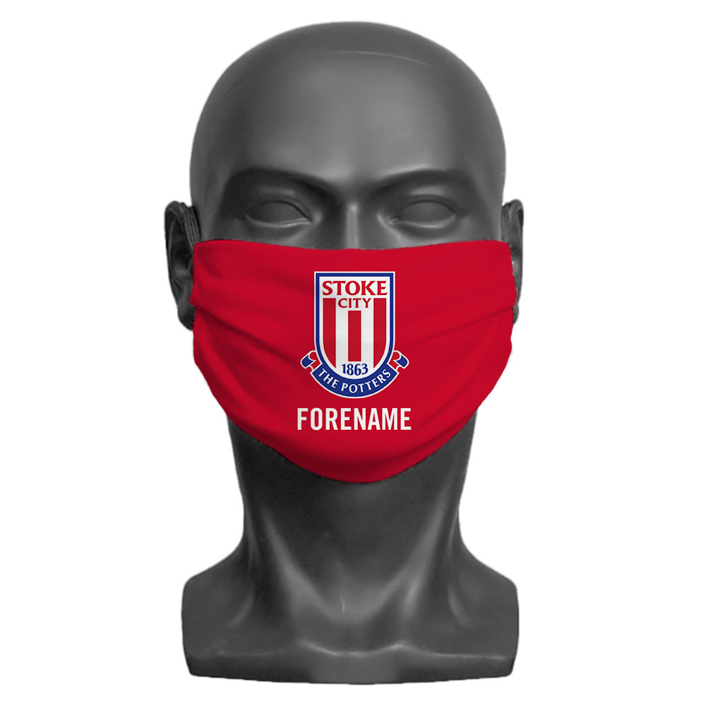 Stoke City FC Crest Adult Face Mask (Large)