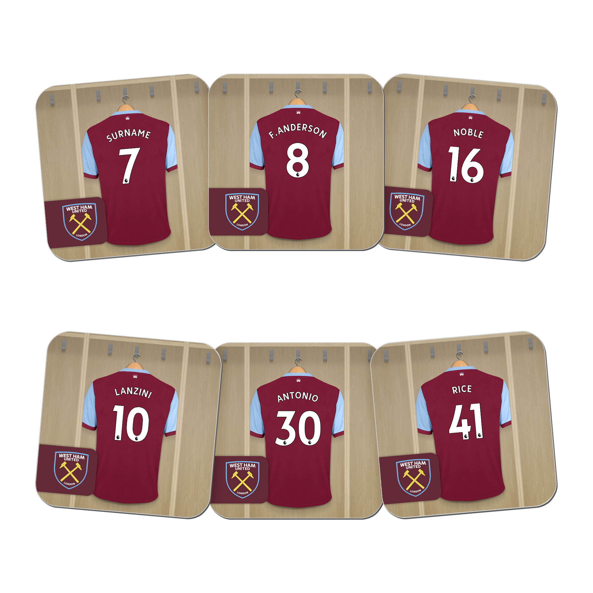 West Ham United FC Dressing Room Coasters