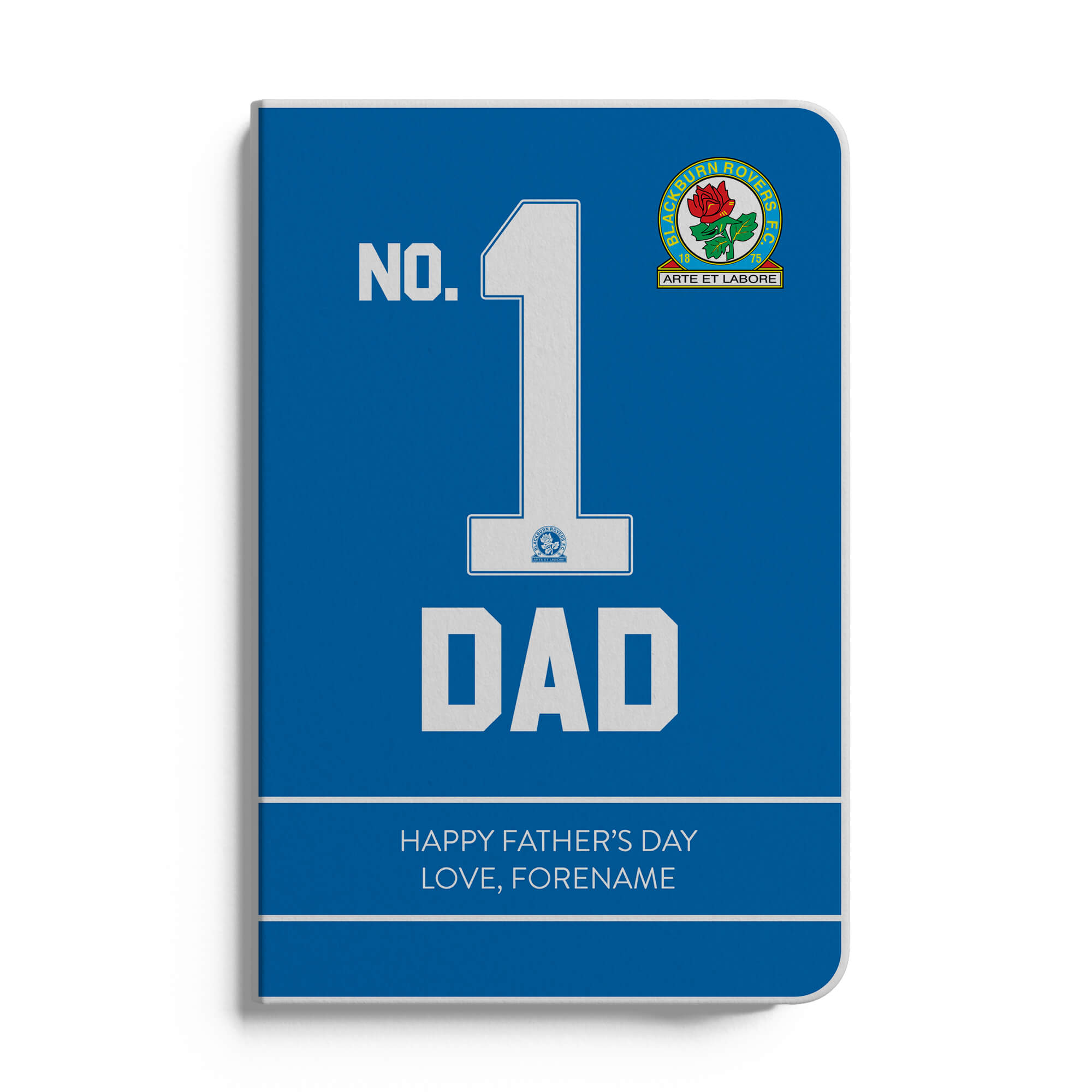 Blackburn Rovers FC No.1 Dad A5 White Lined Notebook