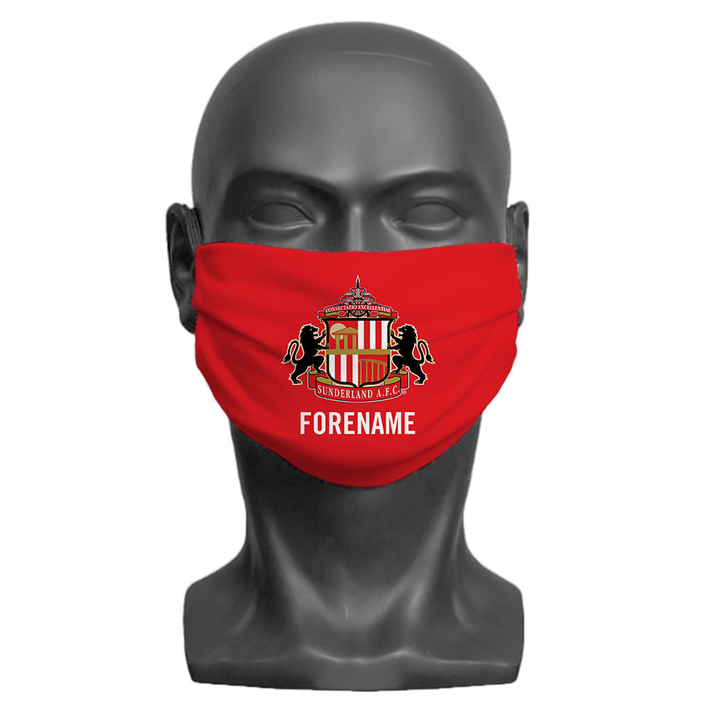 Sunderland AFC Crest Adult Face Mask (Large)