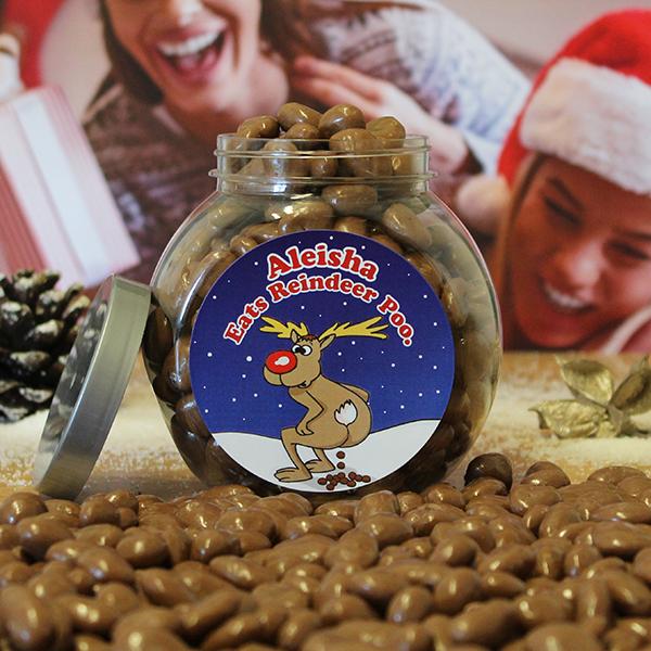 Reindeer Poo Jar