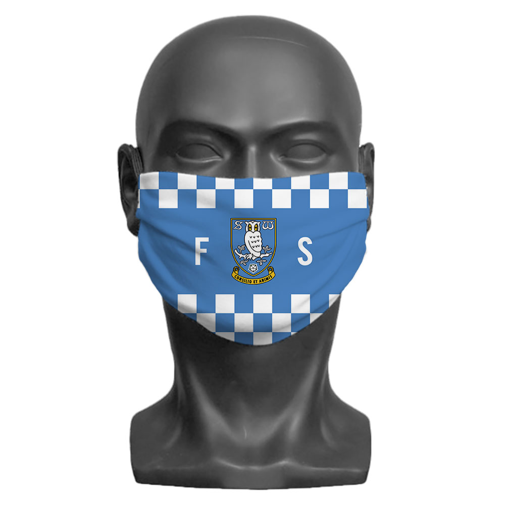 Sheffield Wednesday FC Initials Adult Face Mask (Large)