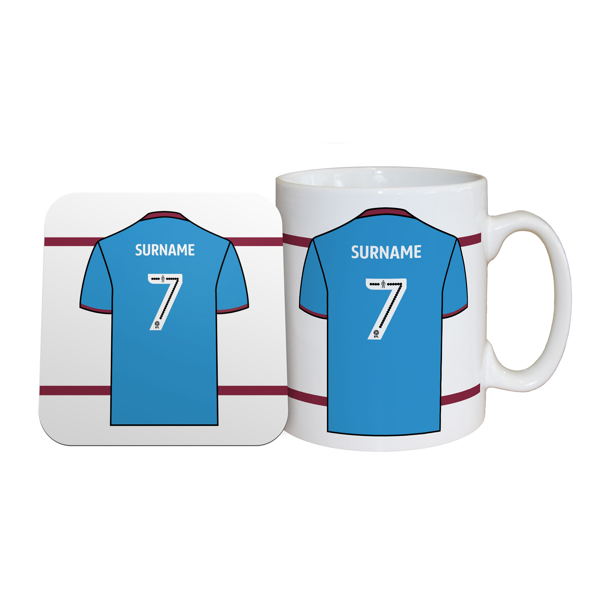 Scunthorpe United FC Shirt Mug & Coaster Set