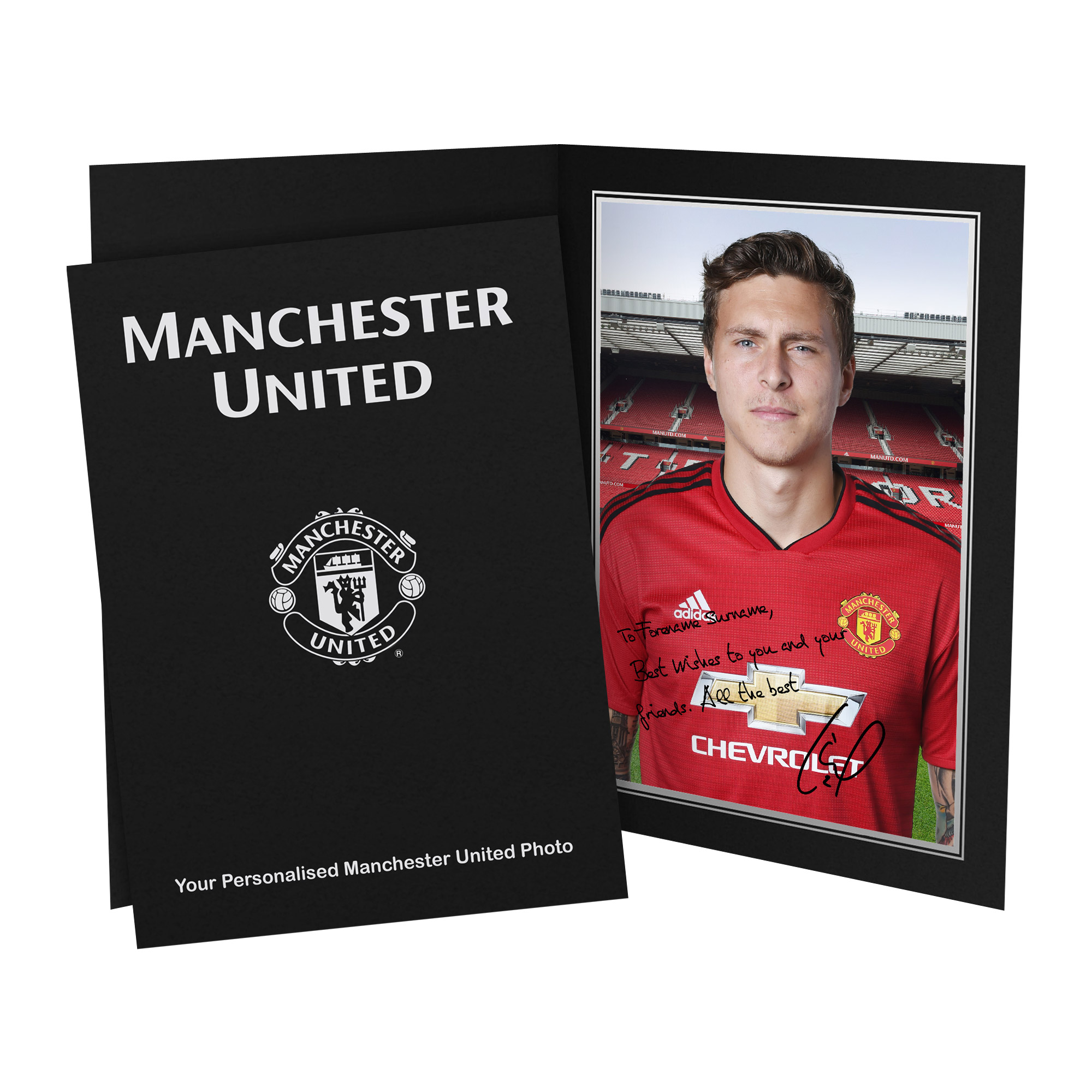 Manchester United FC Lindelof Autograph Photo Folder