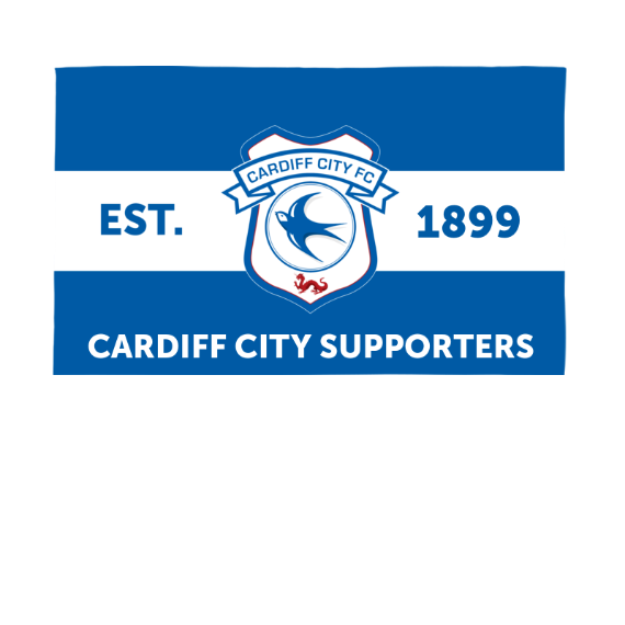 Cardiff City FC Supporters 5ft x 3ft Banner