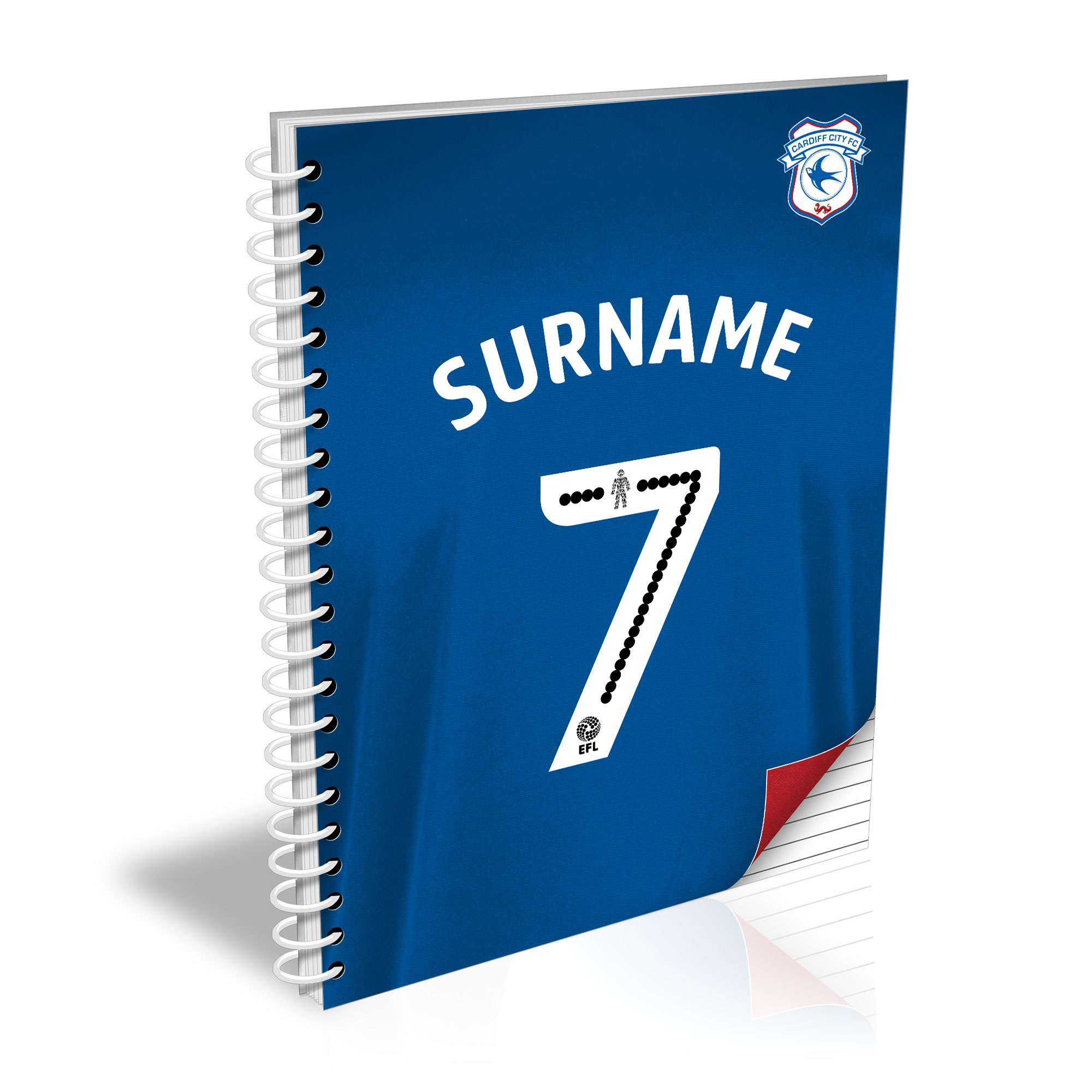 Cardiff City FC Shirt Notebook