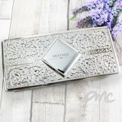 Personalised Silver Jewellery Box
