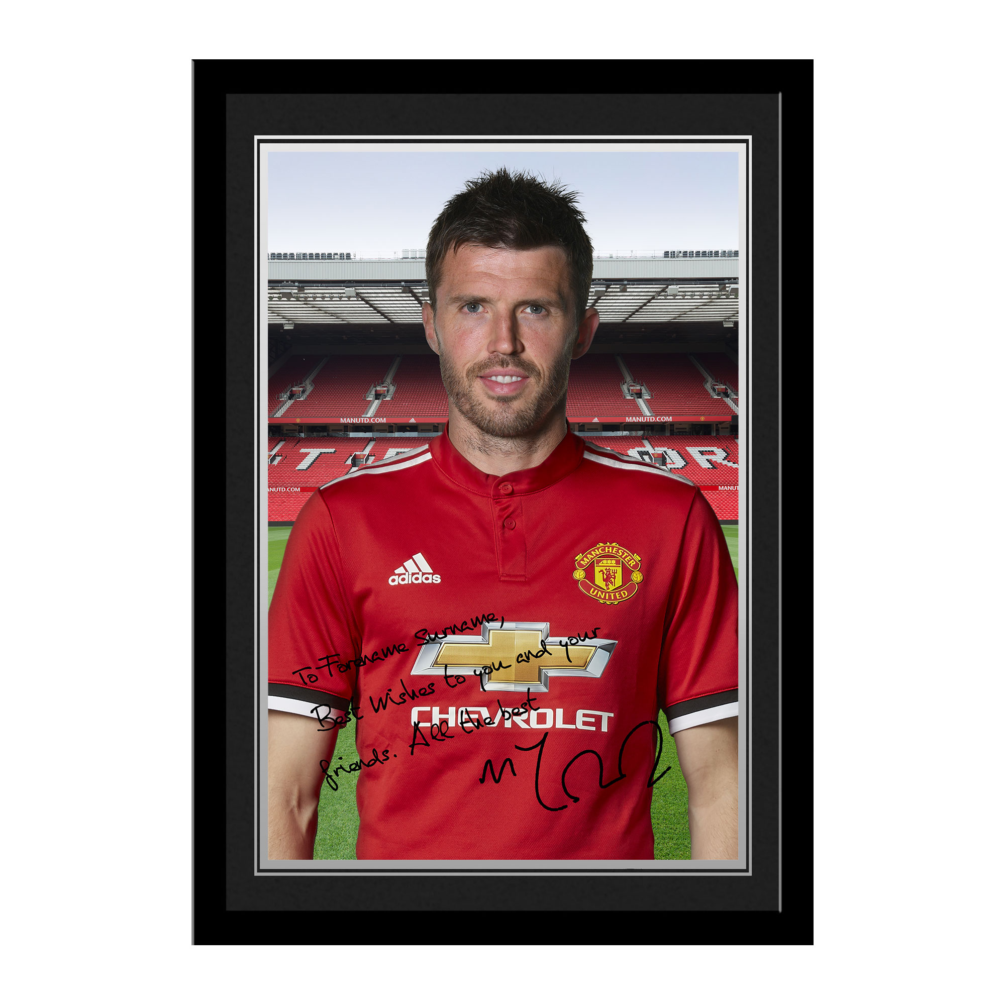 Manchester United FC Carrick Autograph Photo Framed