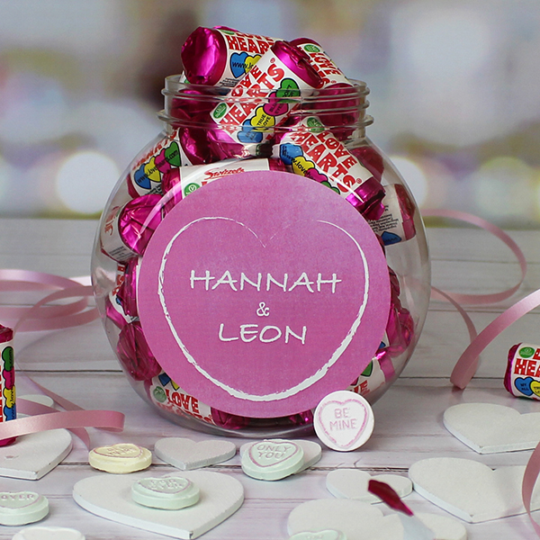 Love Hearts Sweet Jar Lifestyle