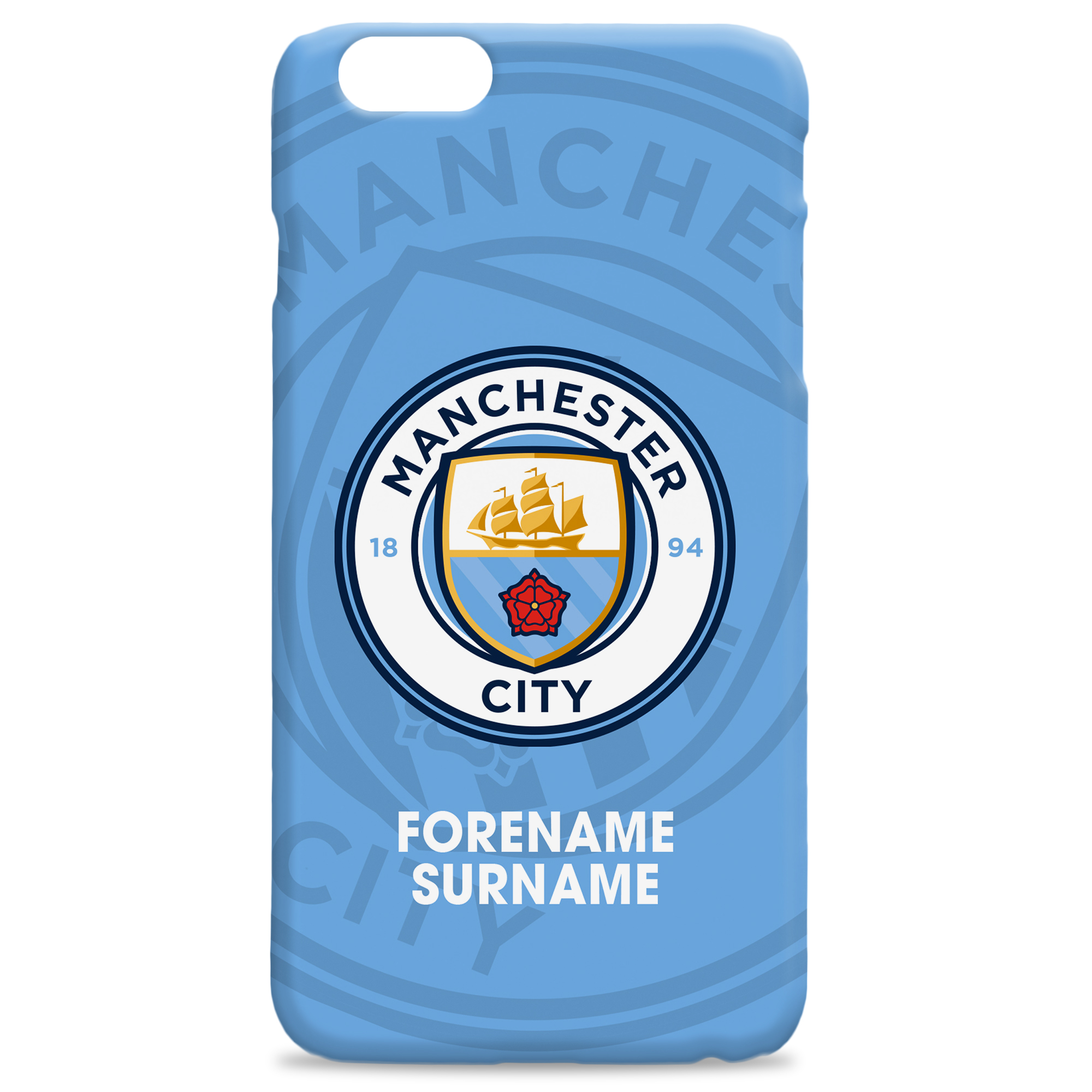 Manchester City FC Bold Crest Hard Back Phone Case