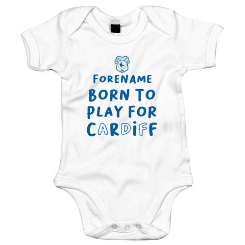 Cardiff City Born to Play Baby Bodysuit
