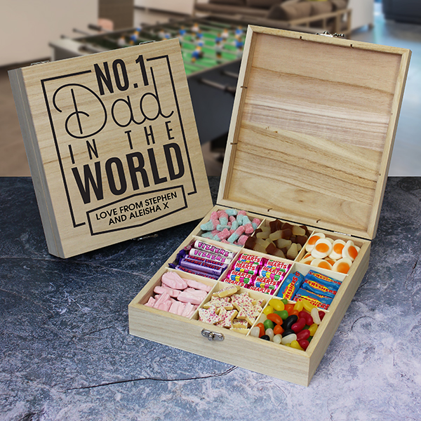 No.1 Dad Wooden Sweet Box