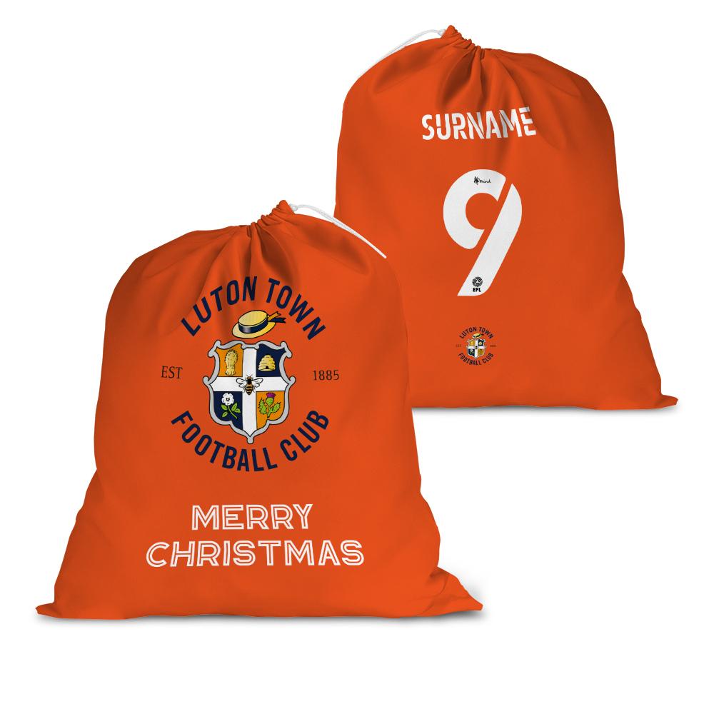 Luton Town FC Back of Shirt Santa Sack