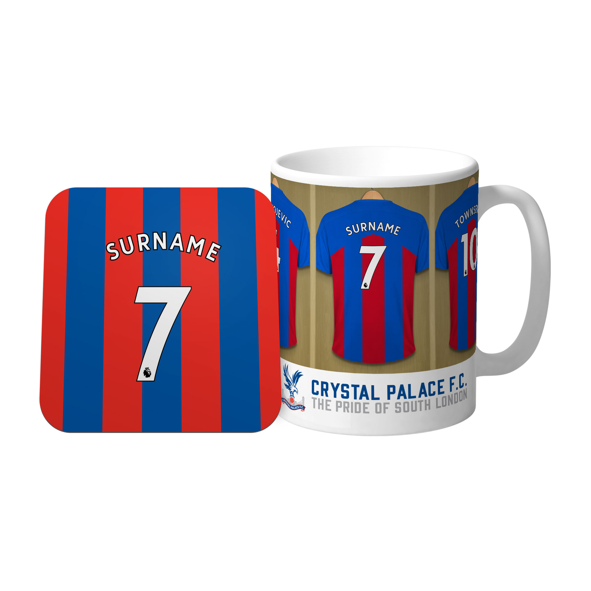 Crystal Palace FC Dressing Room Mug & Coaster Set