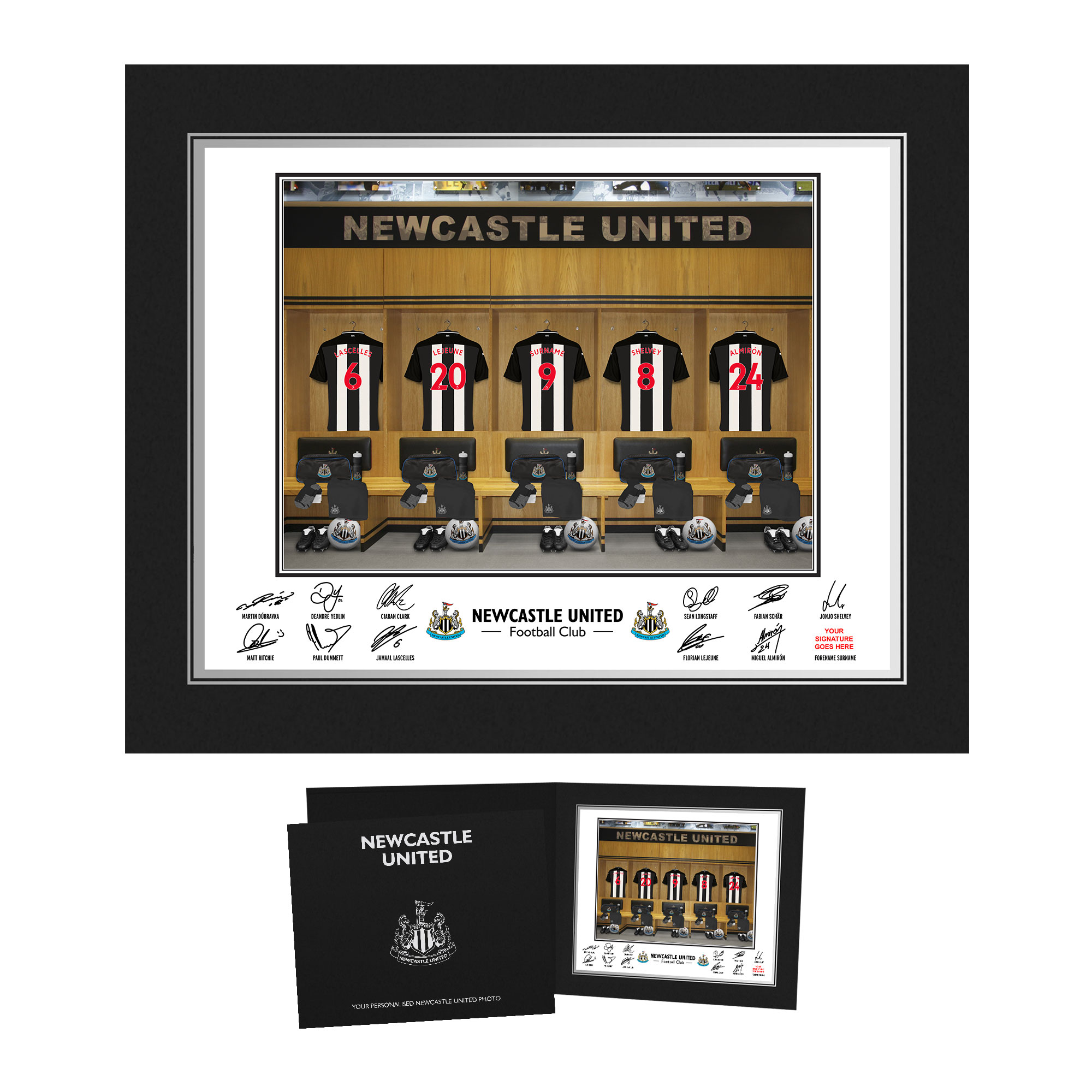Newcastle United FC Dressing Room Photo Folder