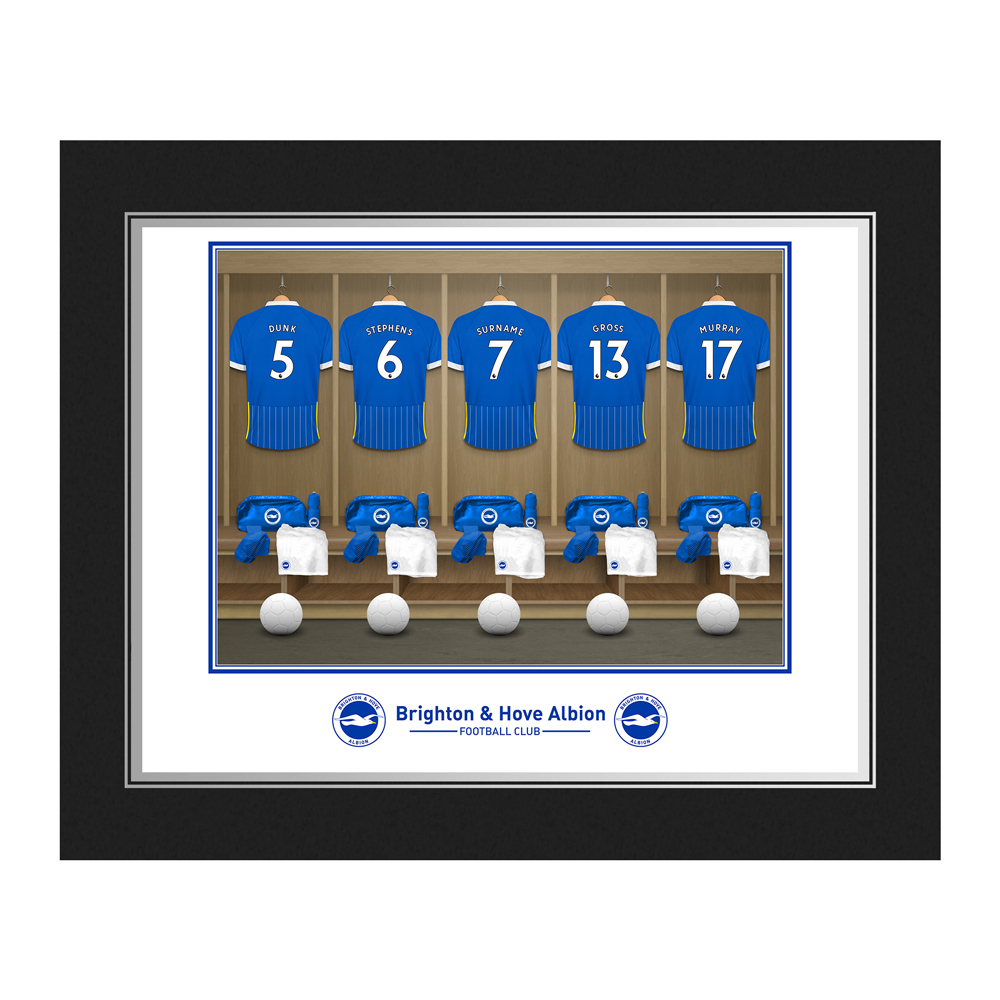 Brighton & Hove Albion FC Dressing Room Photo Folder