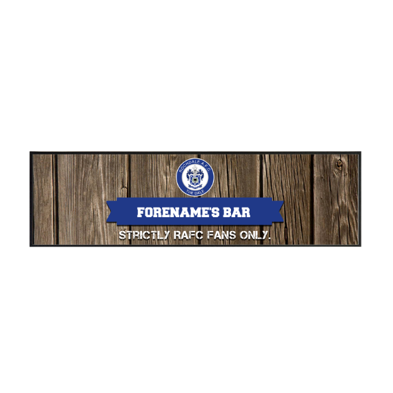 Rochdale AFC Wood Name Large Bar Runner