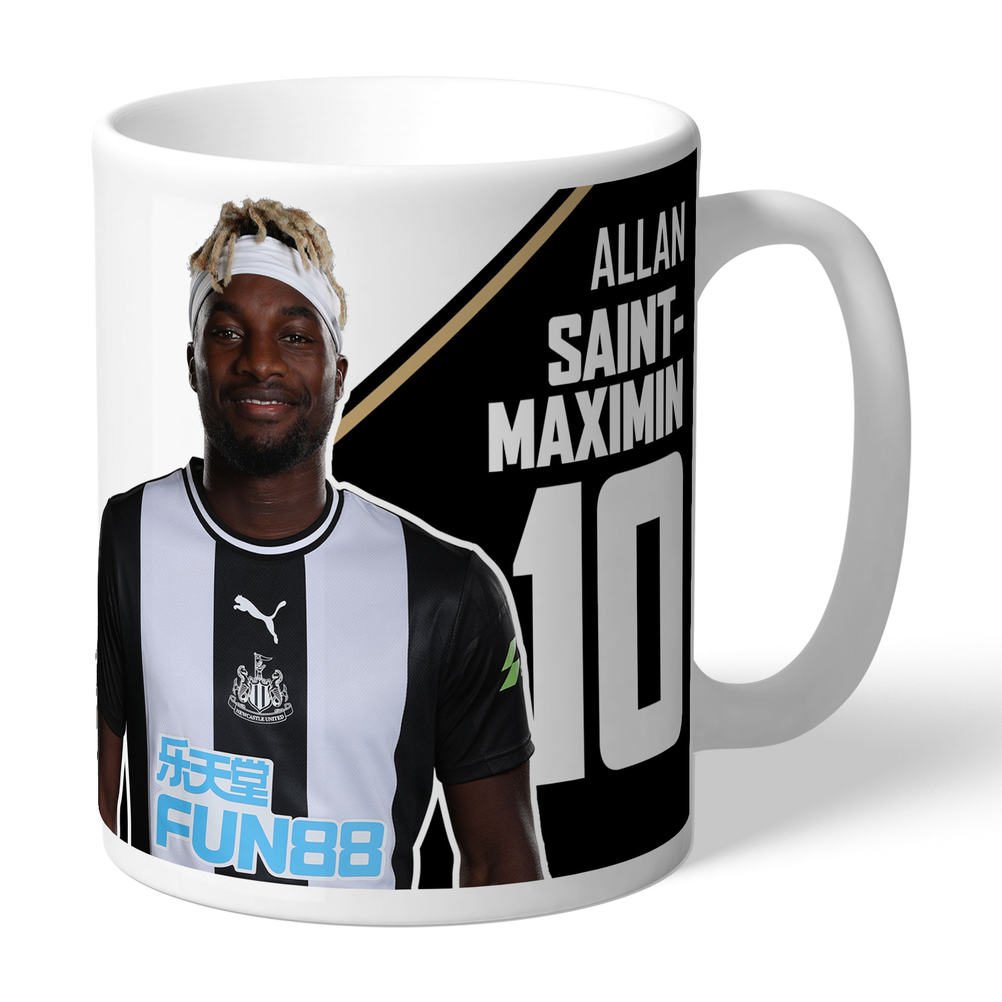 Newcastle United FC Saint-Maximin Autograph Mug