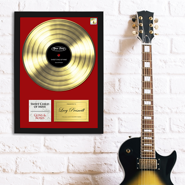 Gold Your Song Poster Lifestyle shot in black frame