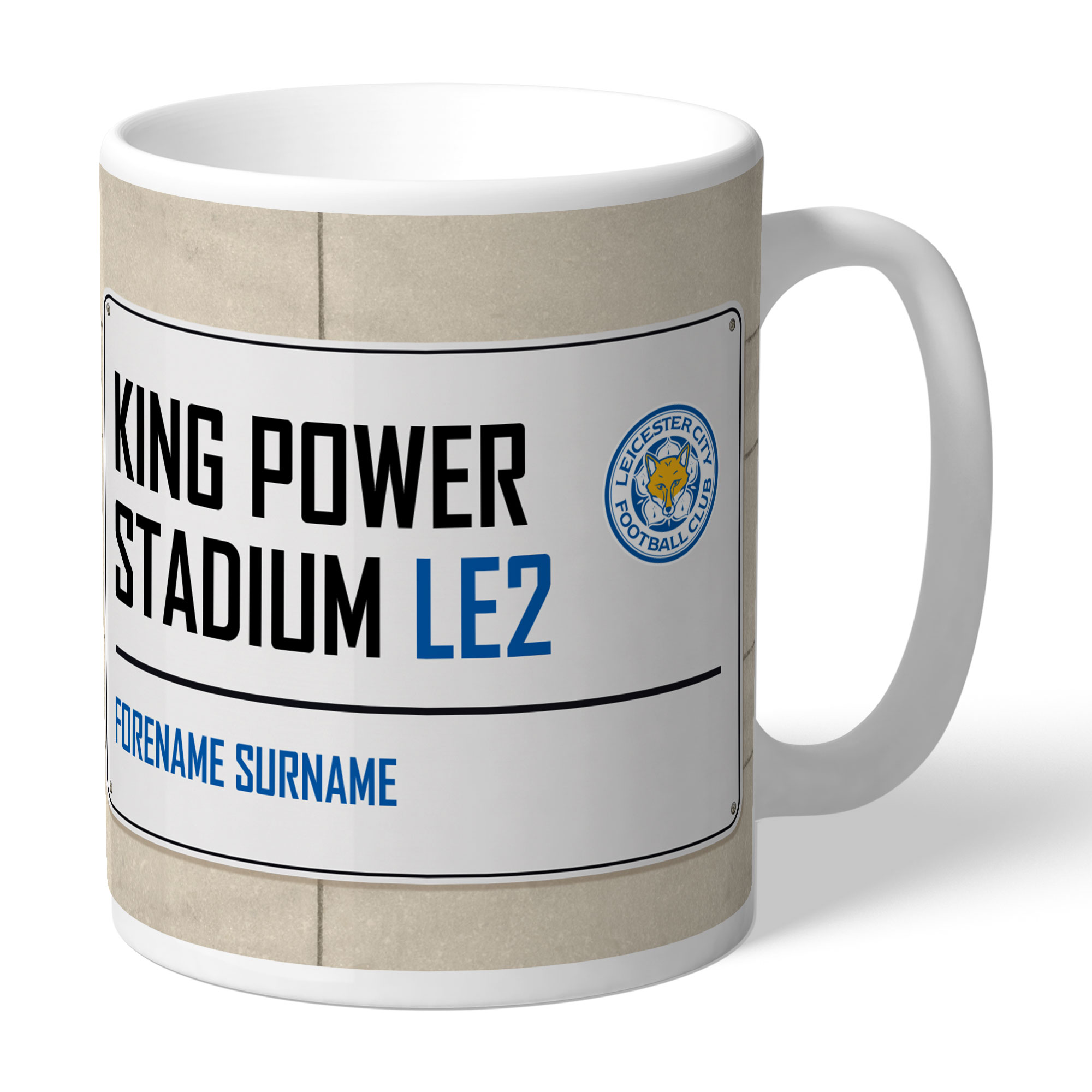 Leicester City FC Street Sign Mug