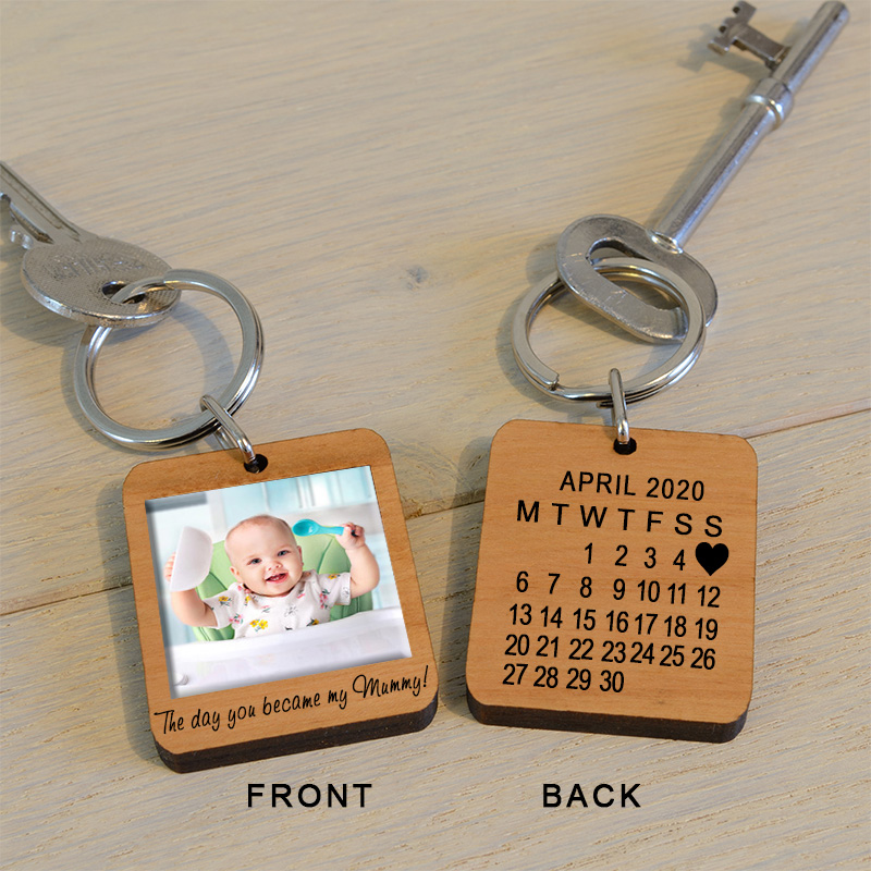 The Day You Became My Mummy Photo Key Ring