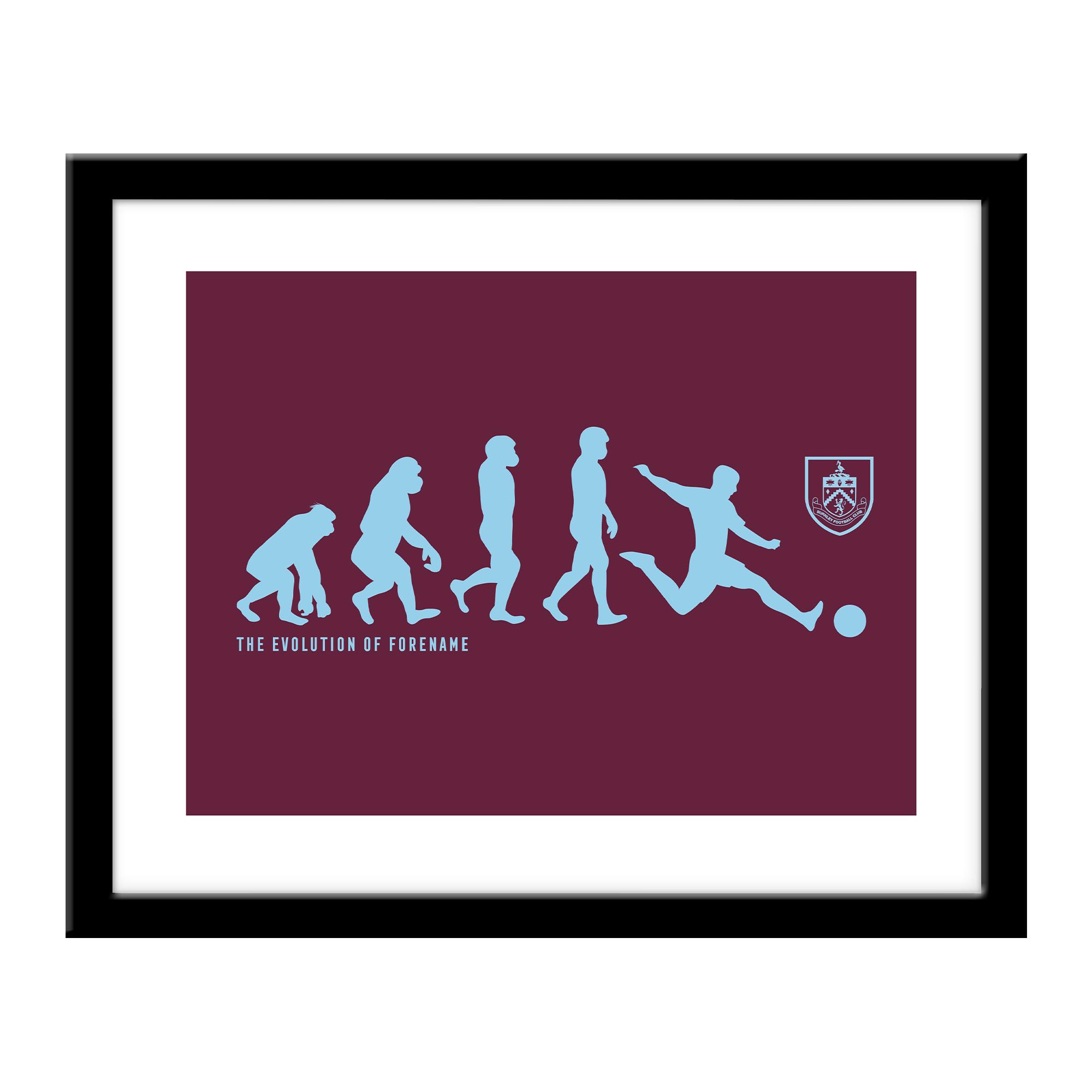 Burnley FC Evolution Print