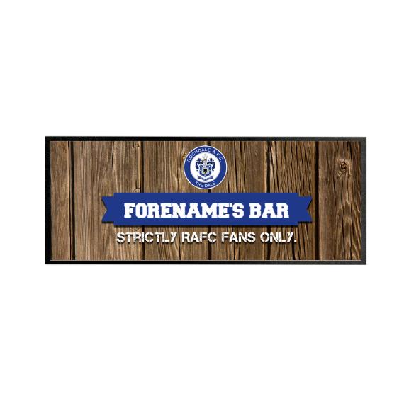 Rochdale AFC Wood Name Regular Bar Runner