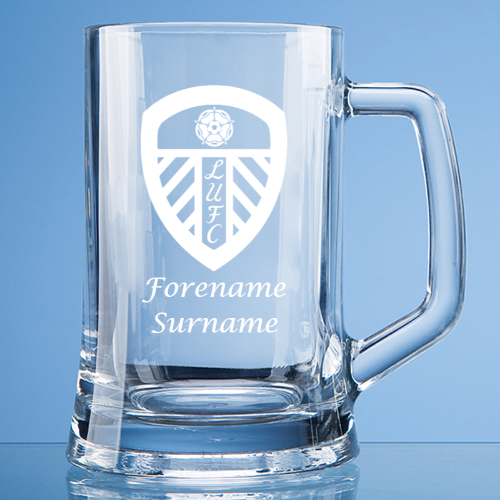 Leeds United FC Crest Large Plain Straight Sided Tankard