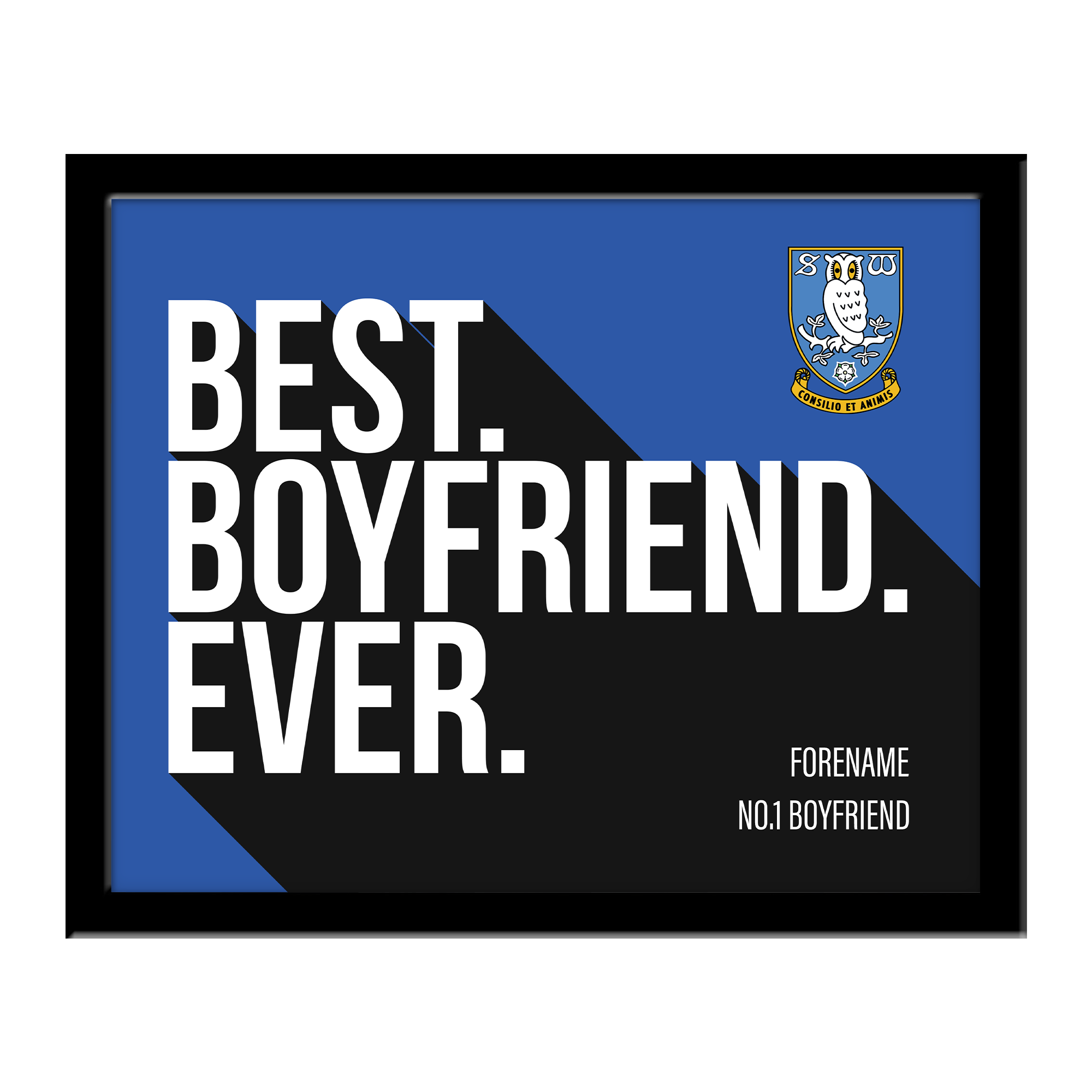 Sheffield Wednesday Best Boyfriend Ever 10 x 8 Photo Framed