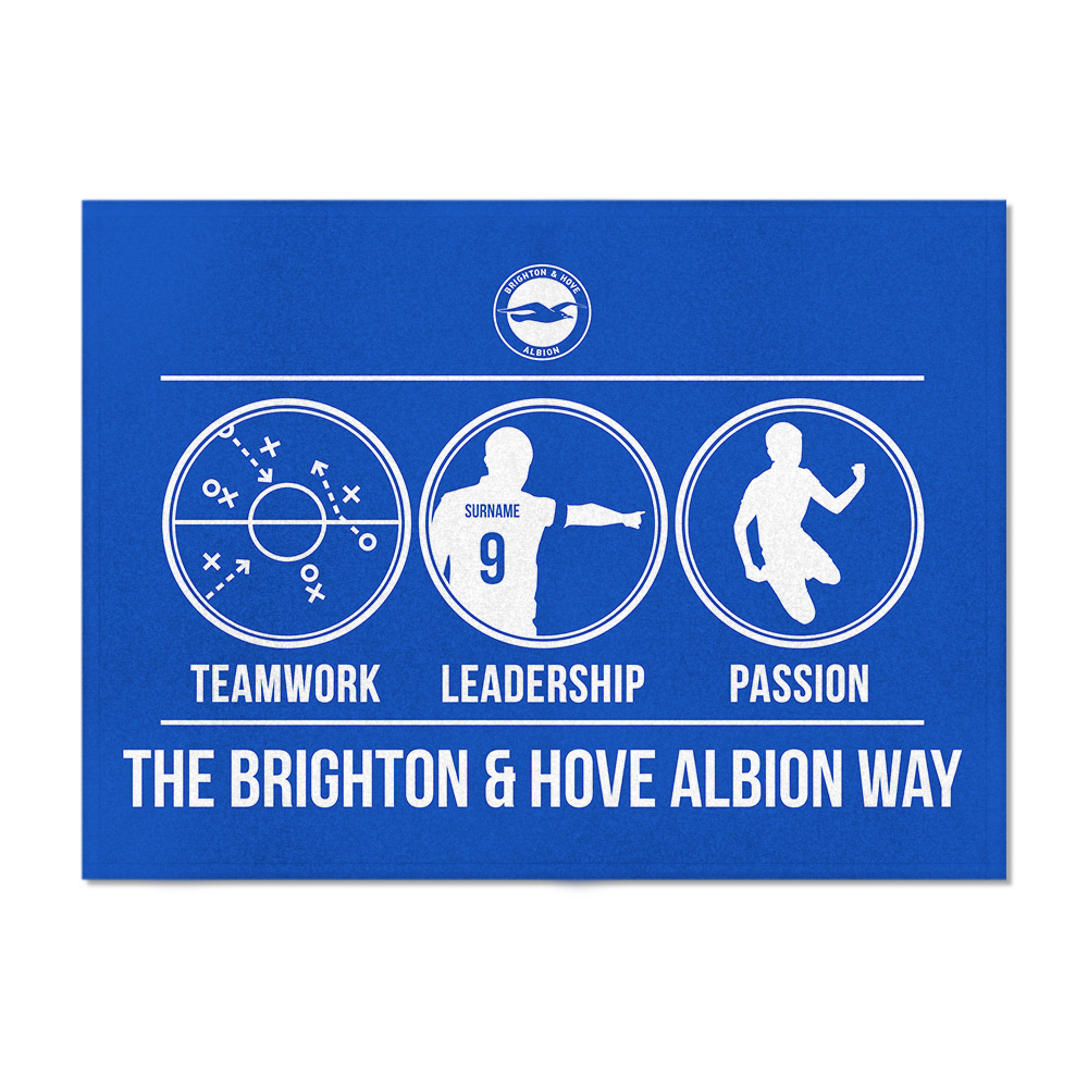 Brighton & Hove Albion FC Way Blanket (100cm X 75cm)