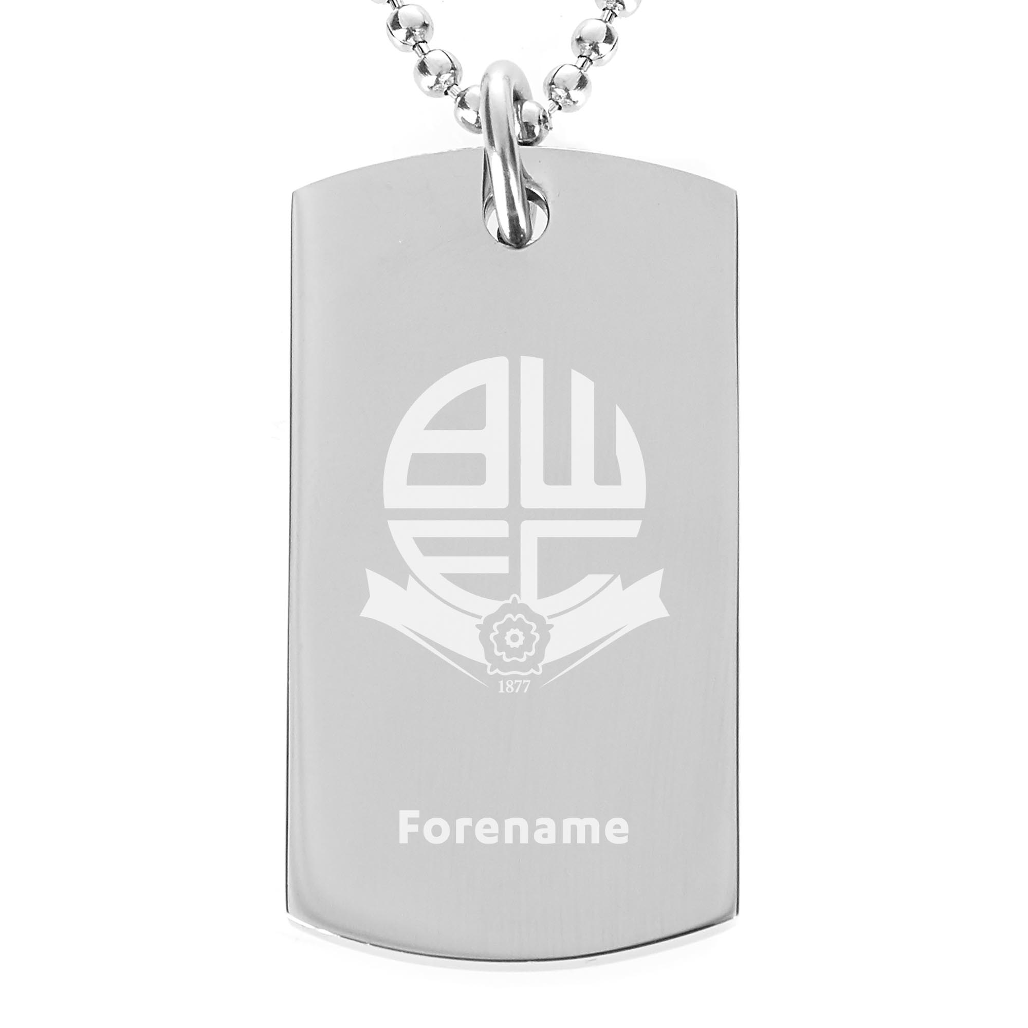 Bolton Wanderers FC Crest Dog Tag Pendant