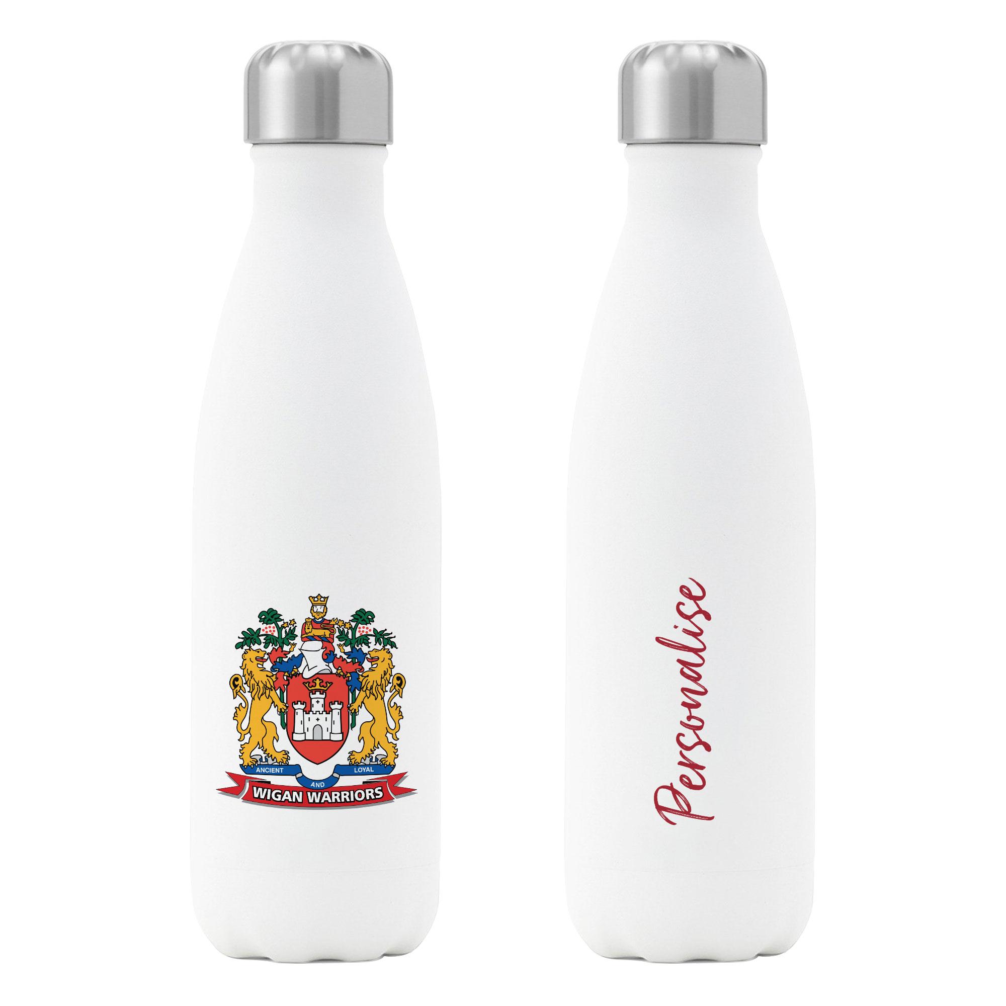 Wigan Warriors Crest Insulated Water Bottle - White