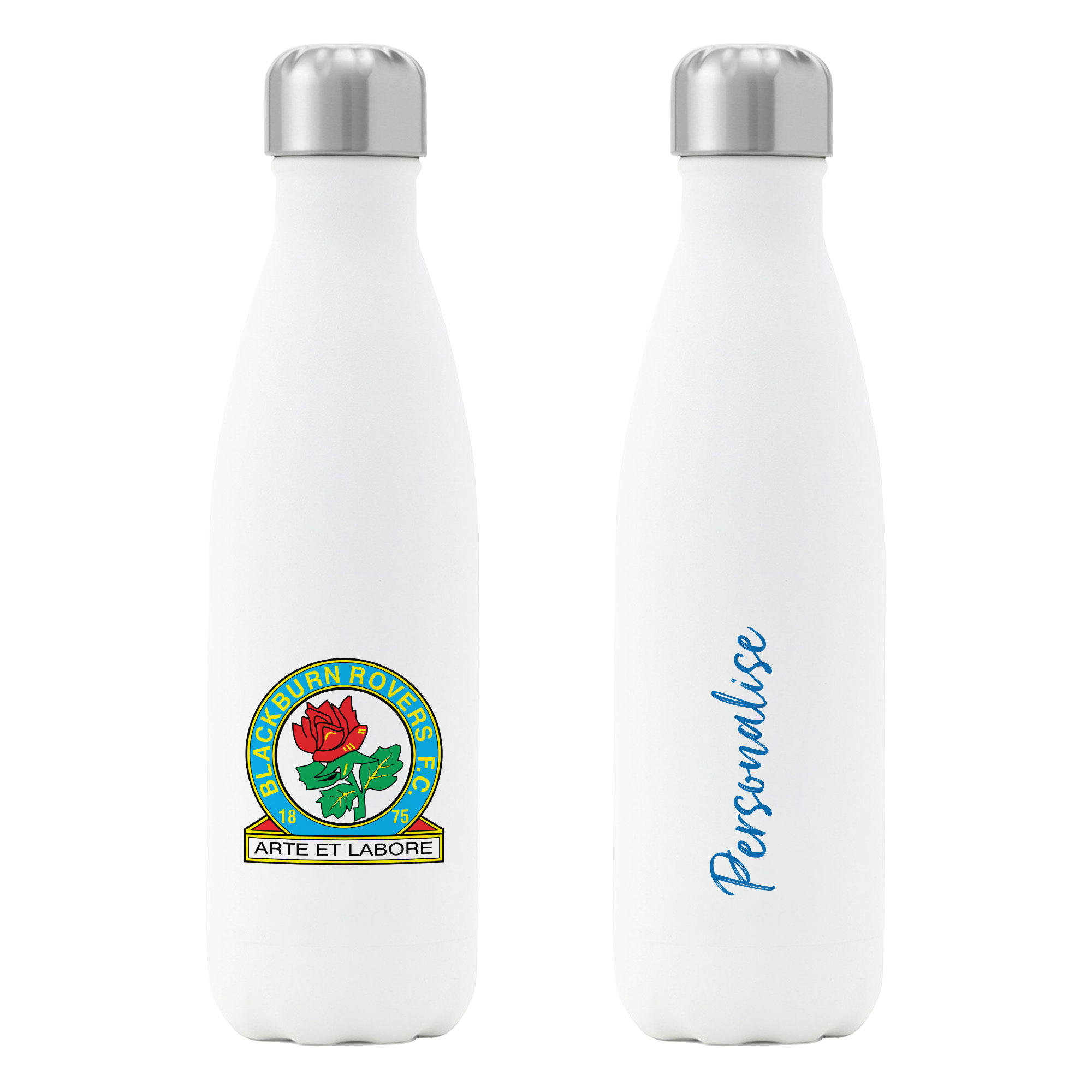 Blackburn Rovers FC Crest Insulated Water Bottle - White