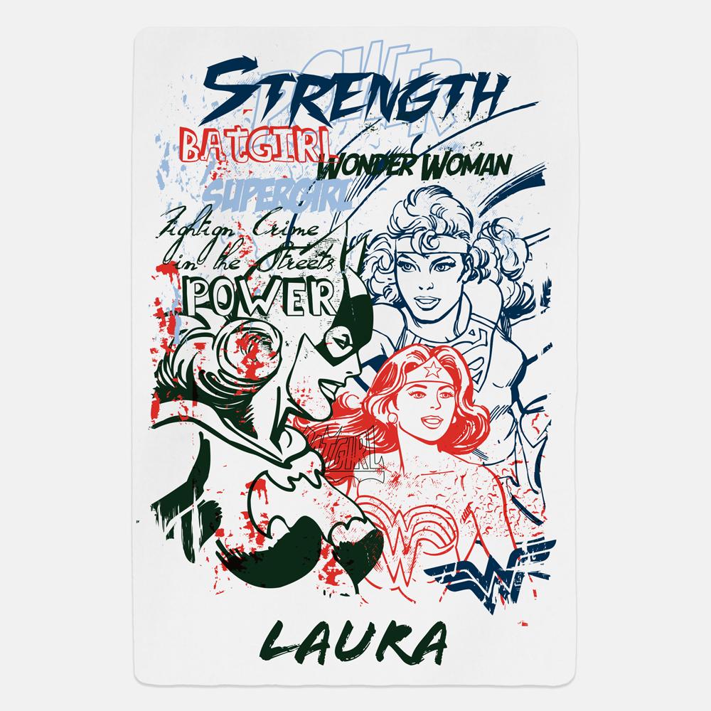 Women of DC Strength Personalised Fleece Blanket