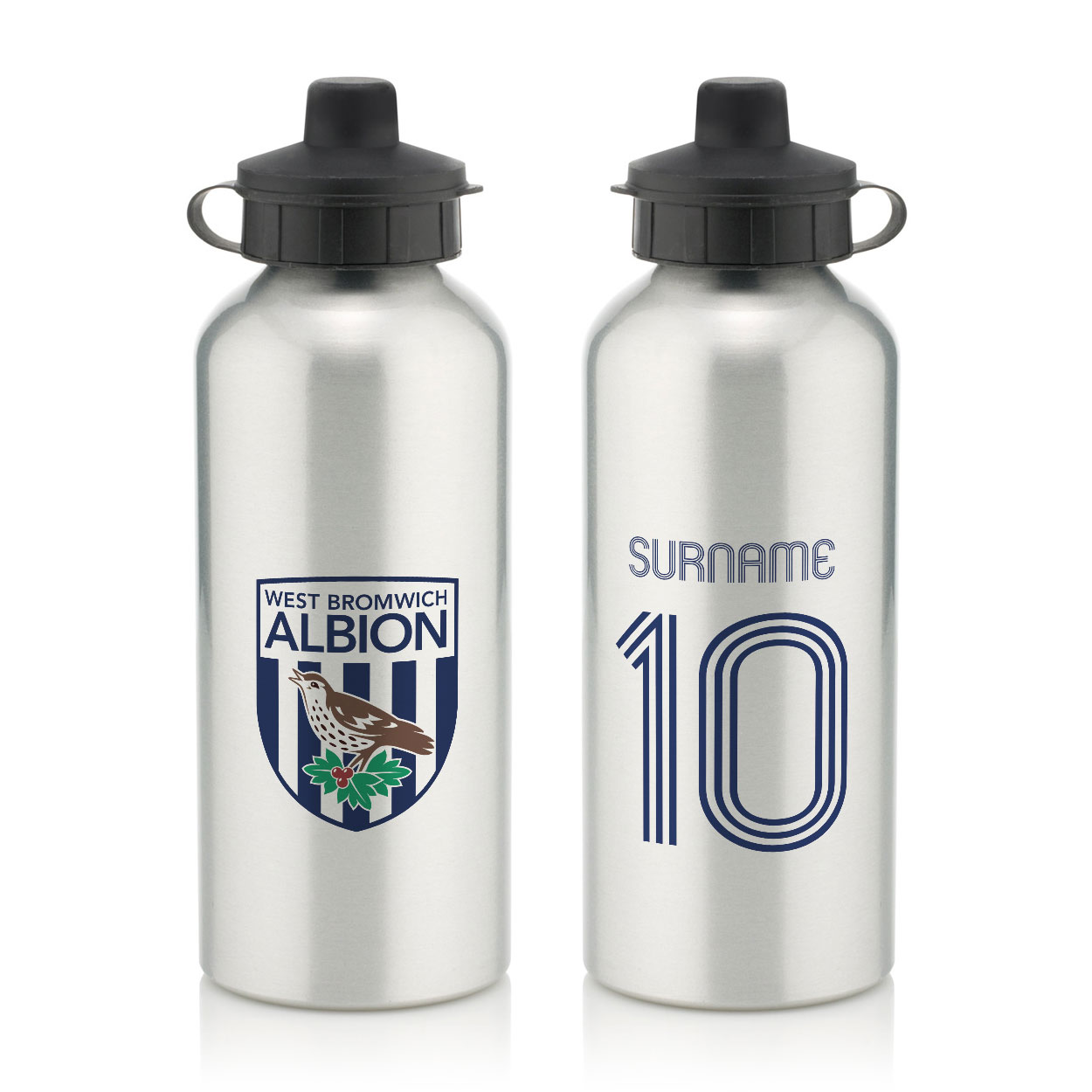 West Bromwich Albion FC Retro Shirt Water Bottle