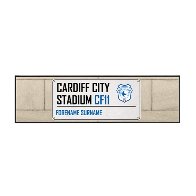 Cardiff City FC Street Sign Large Bar Runner