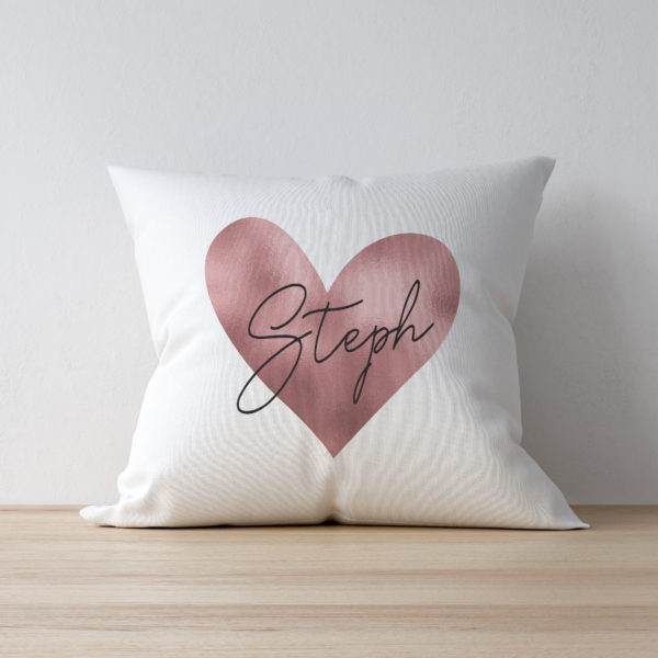 Rose Gold Heart Cushion & Insert