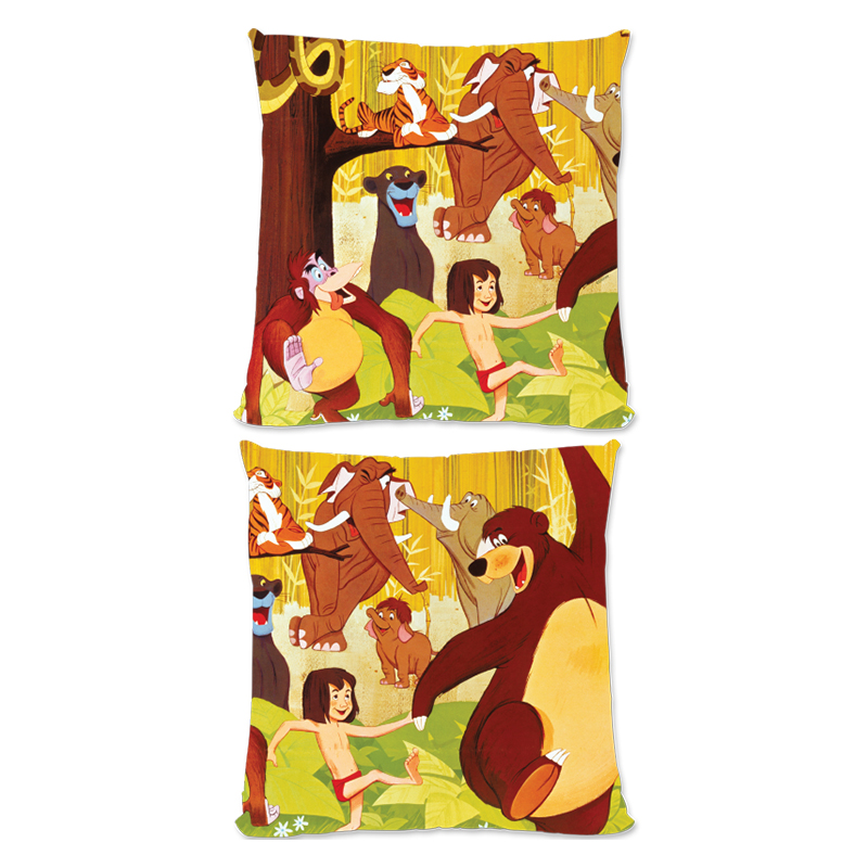 Disney The Jungle Book Retro Poster Art Large Fiber Cushion
