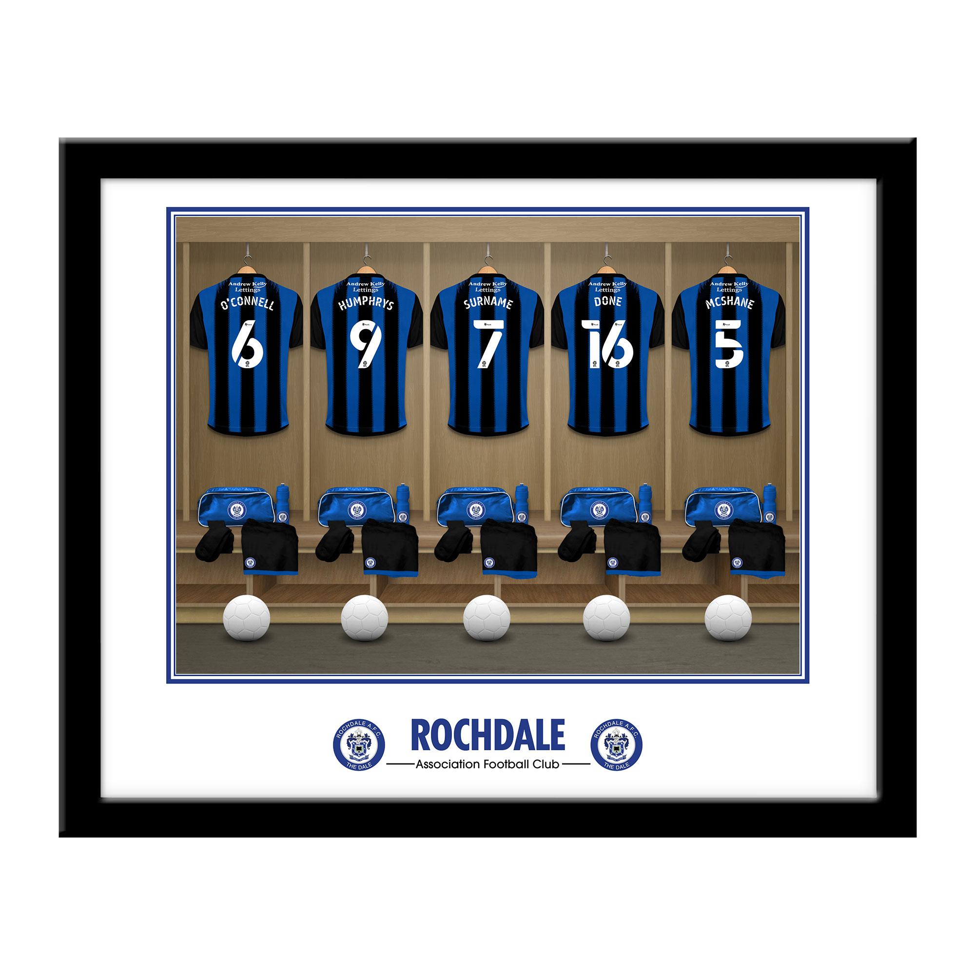 Rochdale AFC Dressing Room Framed Print