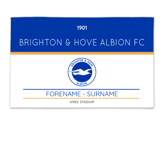Brighton & Hove Albion FC Minimal Ticket 8ft x 5ft Banner
