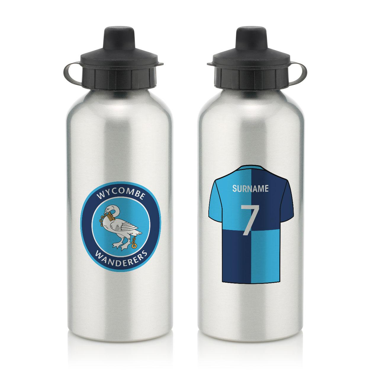 Wycombe Wanderers Aluminium Water Bottle