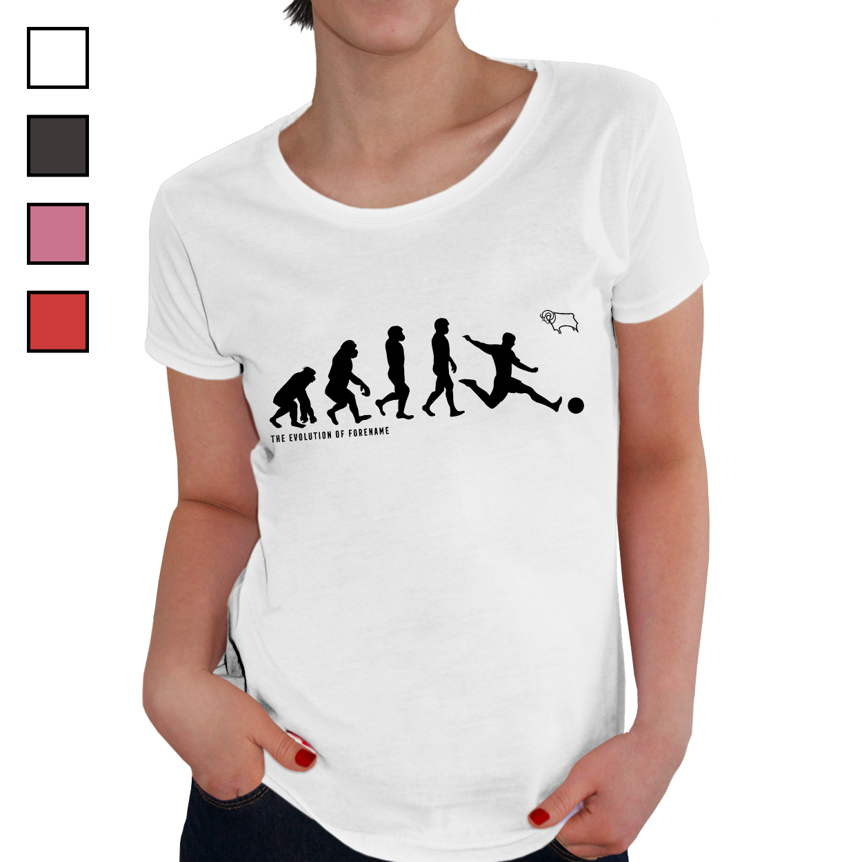 Derby County Evolution Ladies T-Shirt