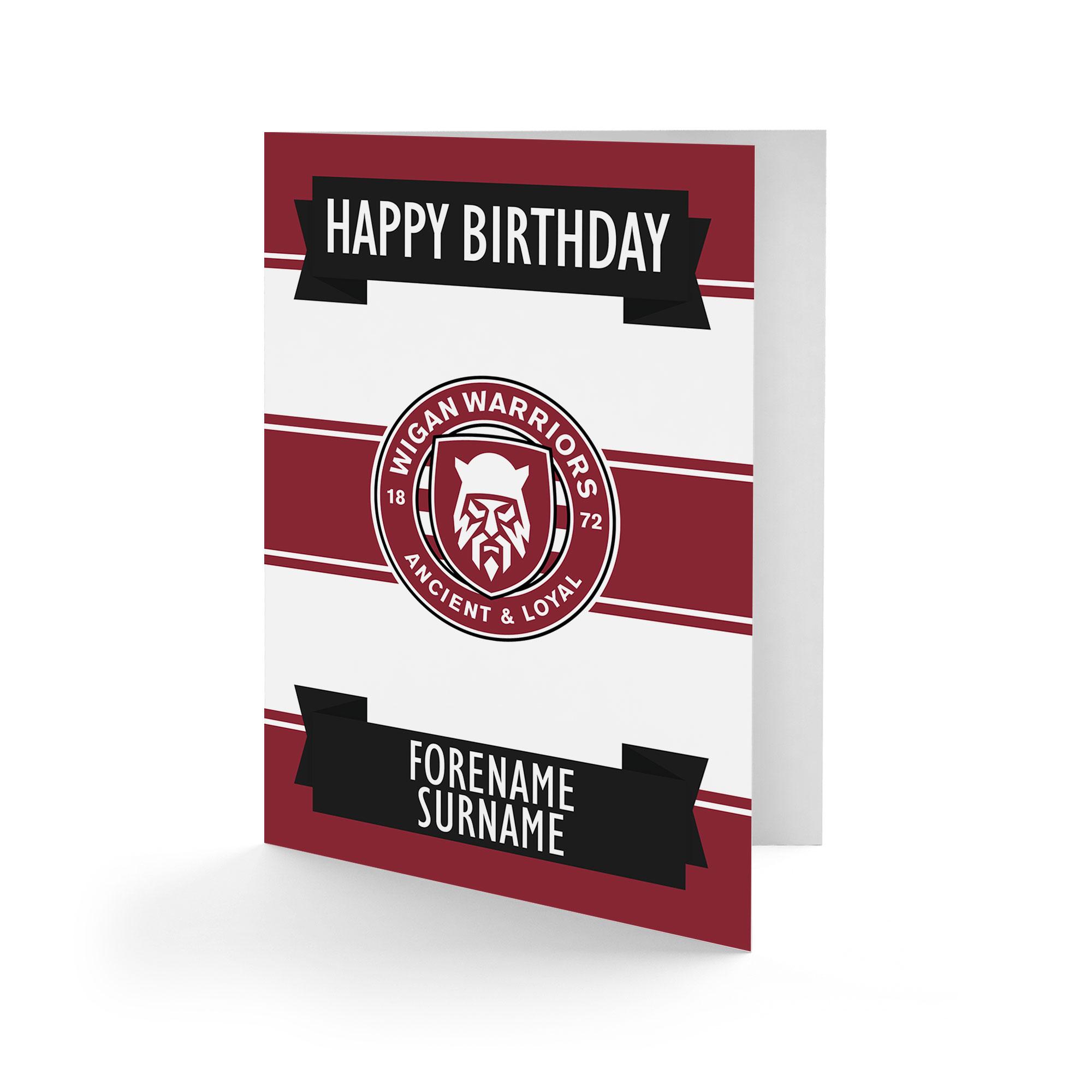 Wigan Warriors Crest Birthday Card
