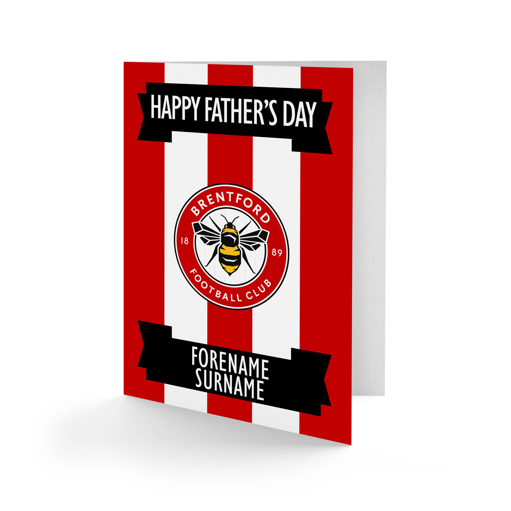 Brentford FC Crest Father's Day Card