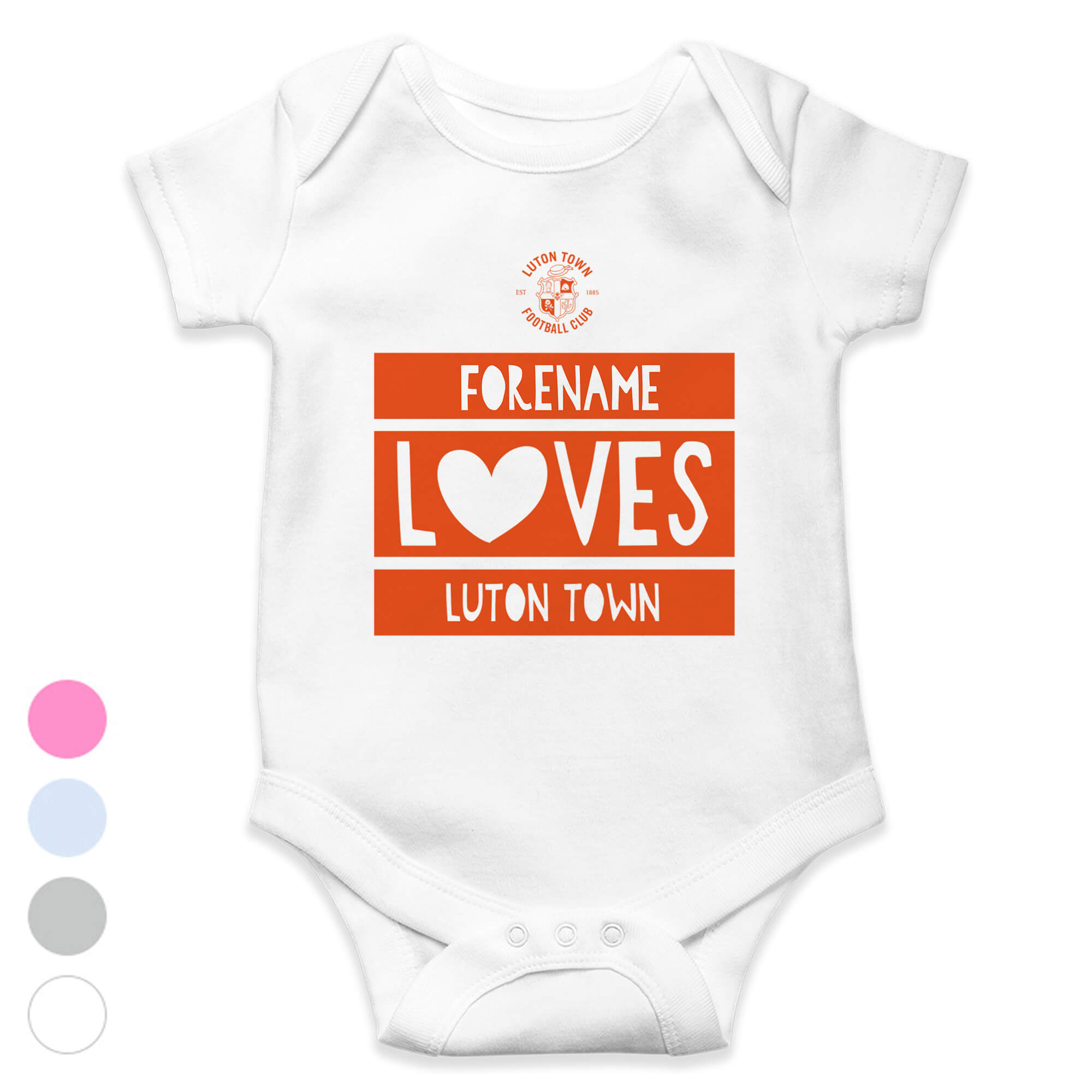 Luton Town FC Loves Baby Bodysuit
