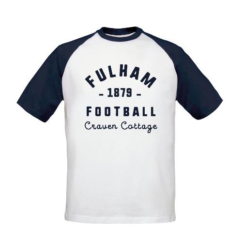 Fulham FC Stadium Vintage Baseball T-Shirt