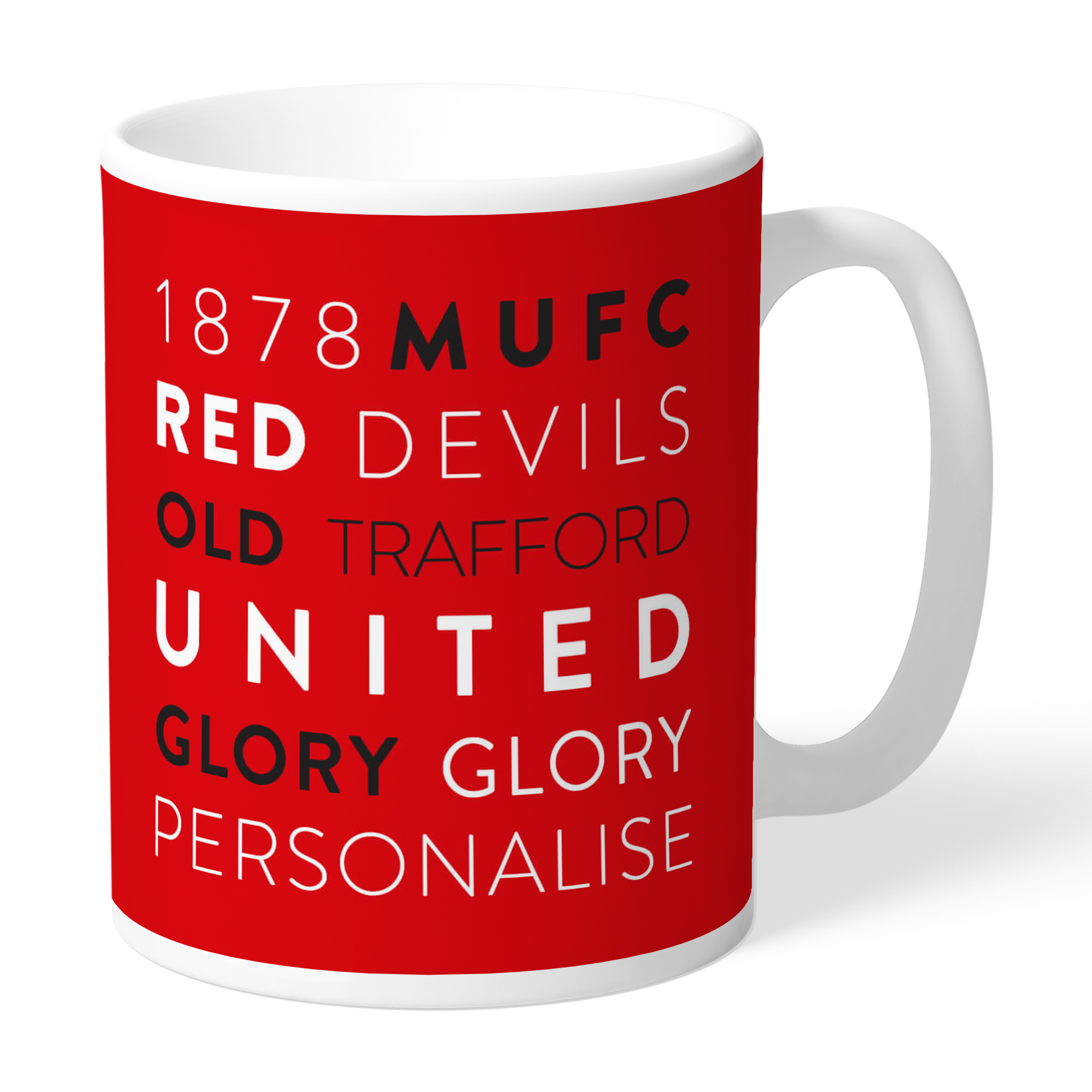 Manchester United FC Word Collage Mug