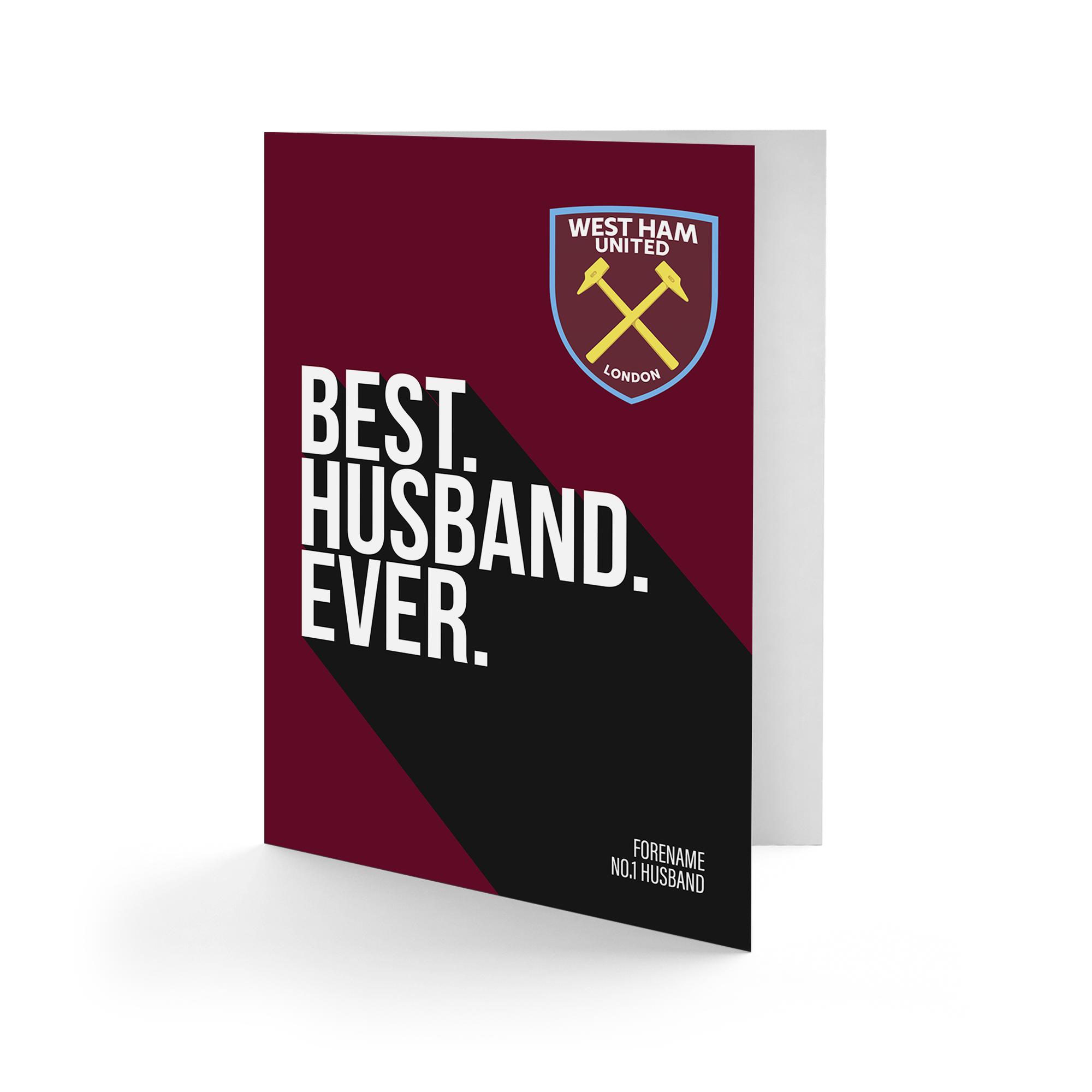 West Ham United FC Best Husband Ever Card