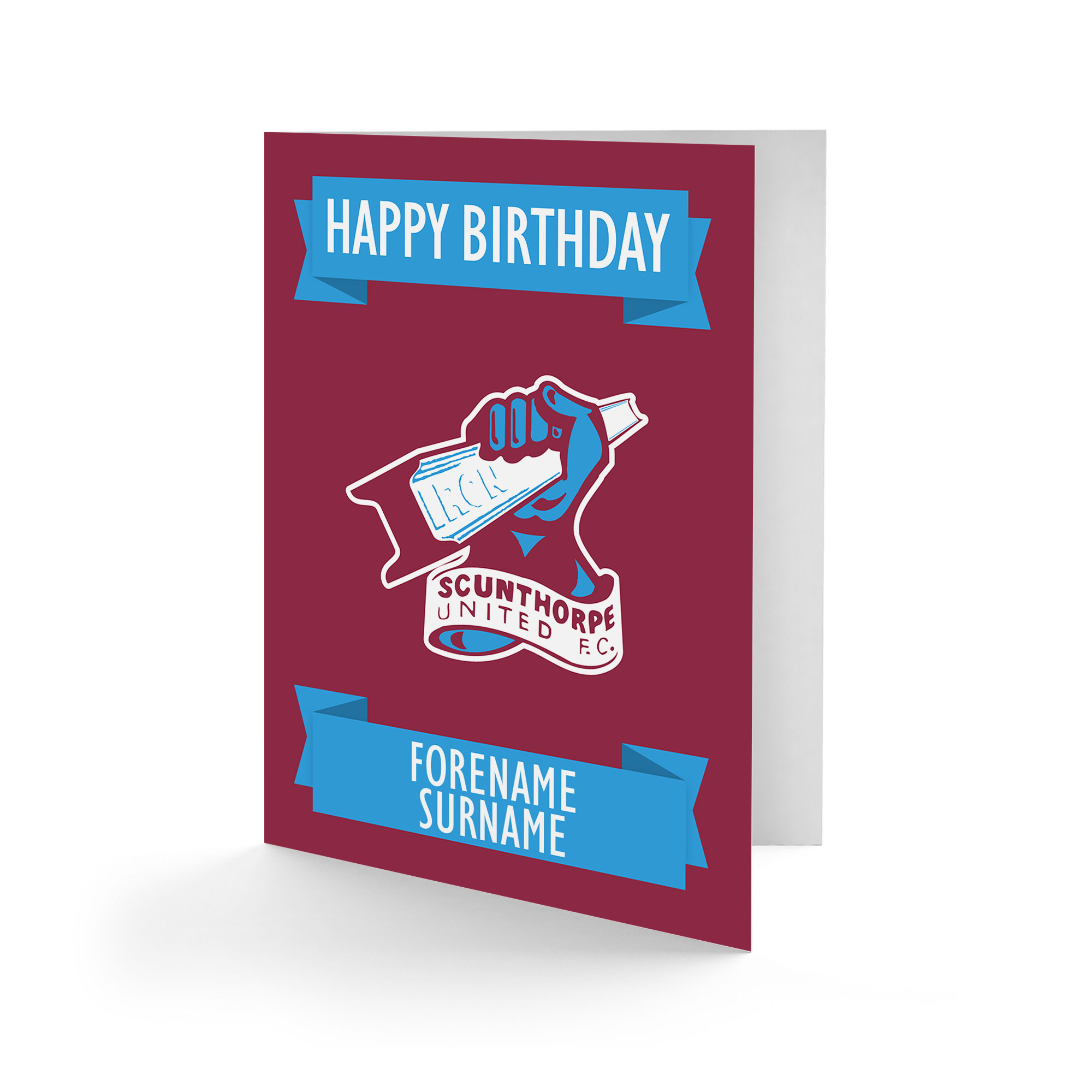 Scunthorpe United FC Crest Birthday Card