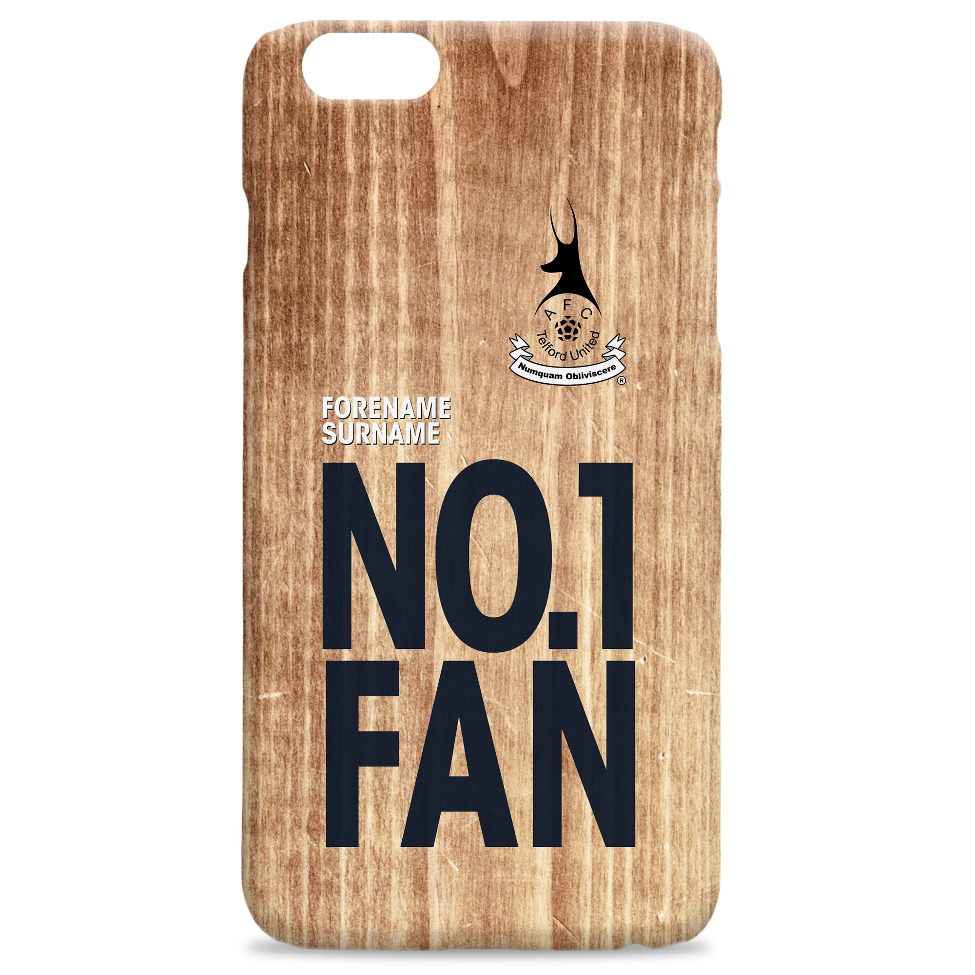 AFC Telford United No 1 Fan Hard Back Phone Case